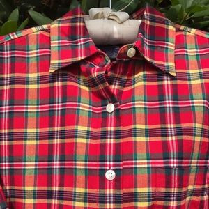 Macy*s Charter Club Button Up Plaid Shirt Size 4